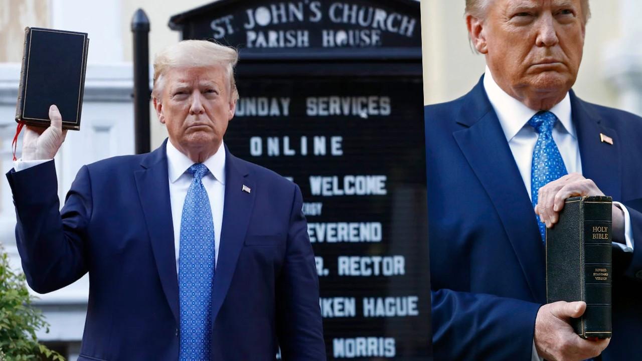 Trump tartışma yaratan pozunu savundu