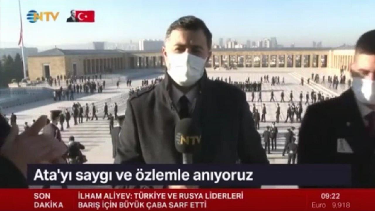 NTV muhabirini Anıtkabir'de konuşturmadılar!