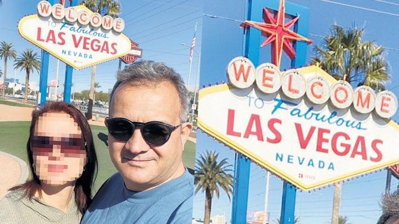 Parasızlıktan yakınan babayı Las Vegas fotoğrafı ele verdi!