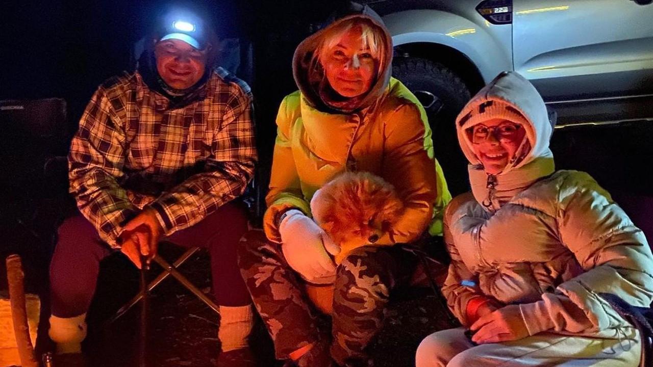 Atacan ailesi kamp keyfi yaptı