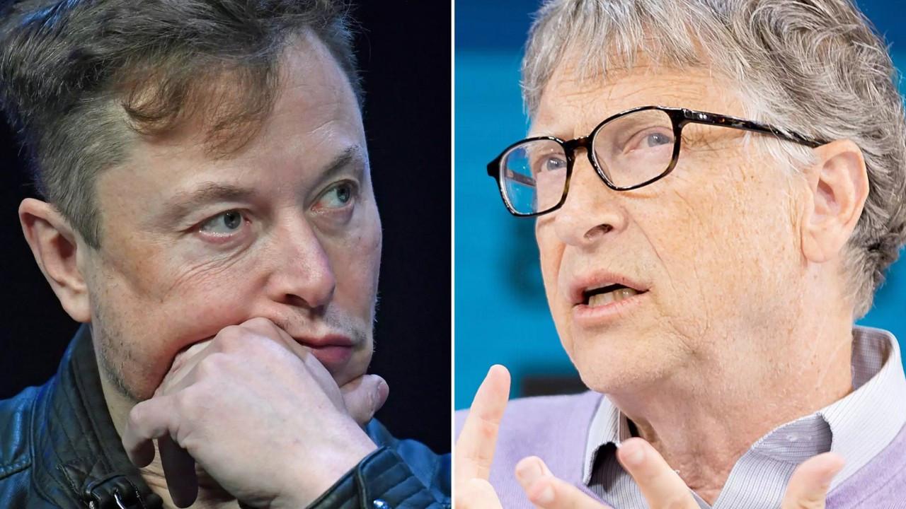 Elon Musk Bill Gates'i solladı