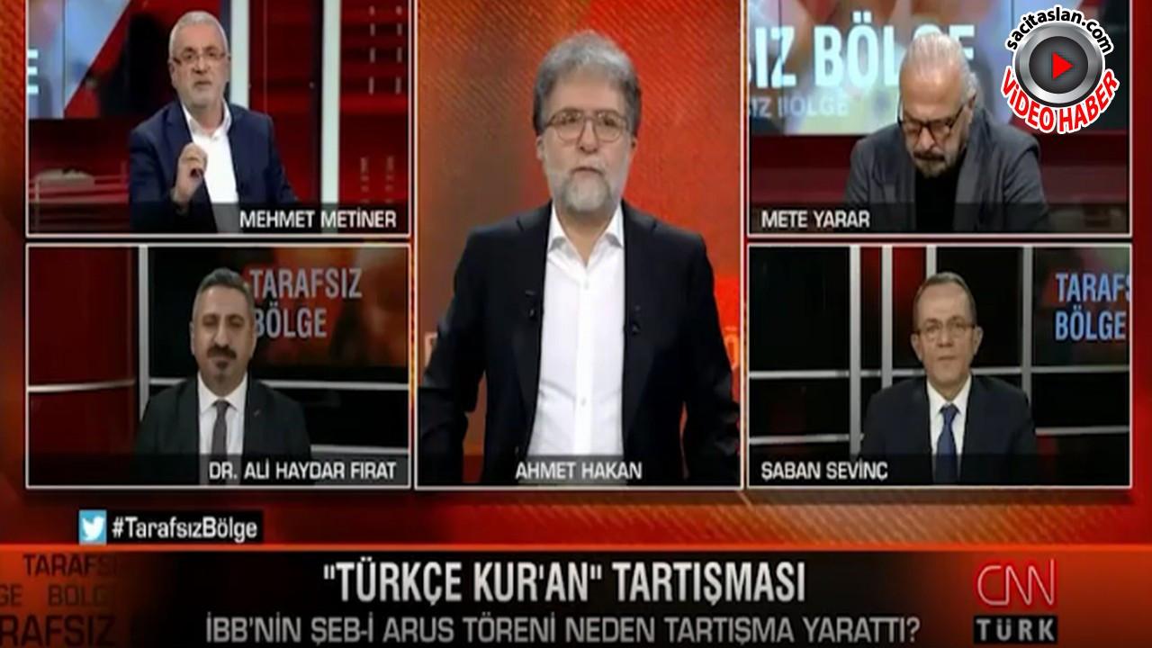 Mehmet Metiner'in sözleri canlı yayını karıştırdı!