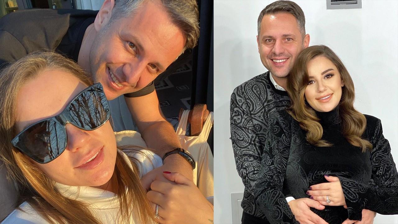 Merve Özbey ve eşinden hatıra fotoğrafı