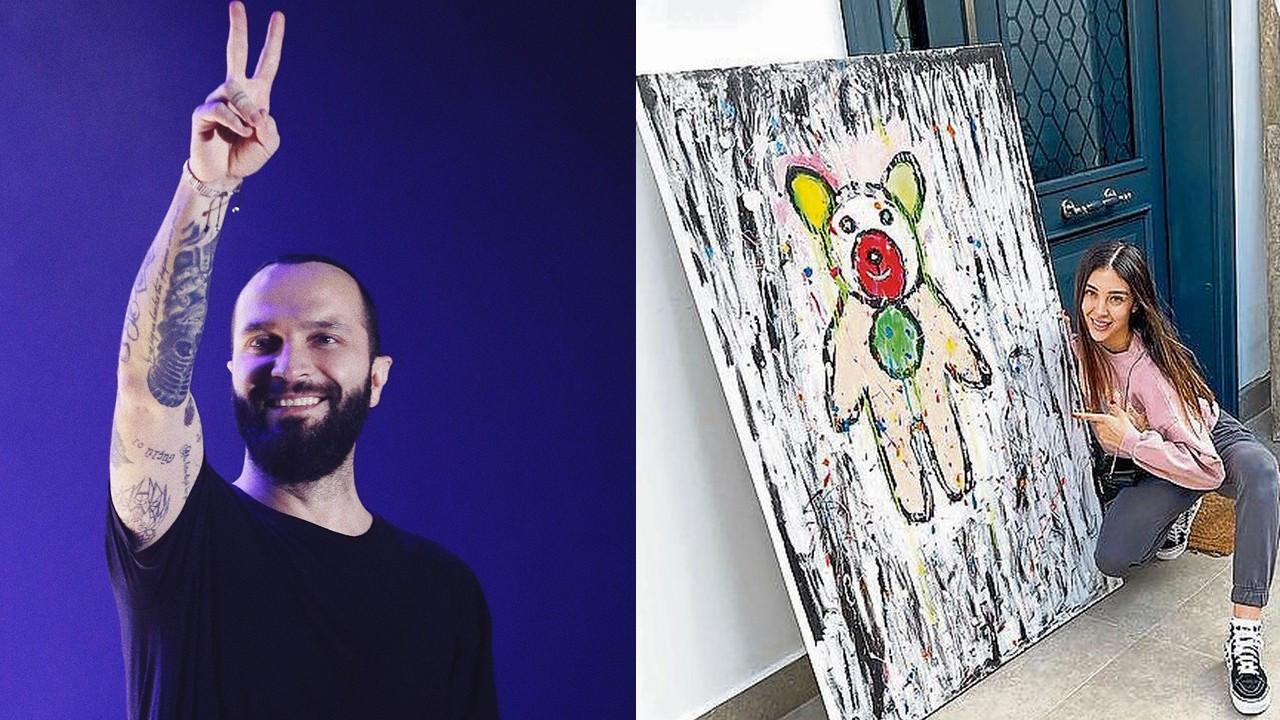 Özlem Ada Şahin ayı tablosunu paylaşıp Berkay'a teşekkür etti