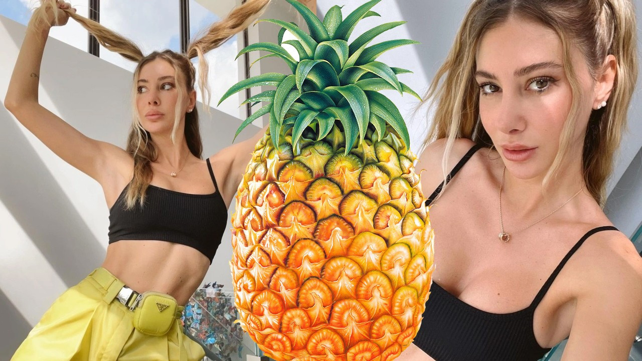Şeyma Subaşı kendini ananasa benzetti