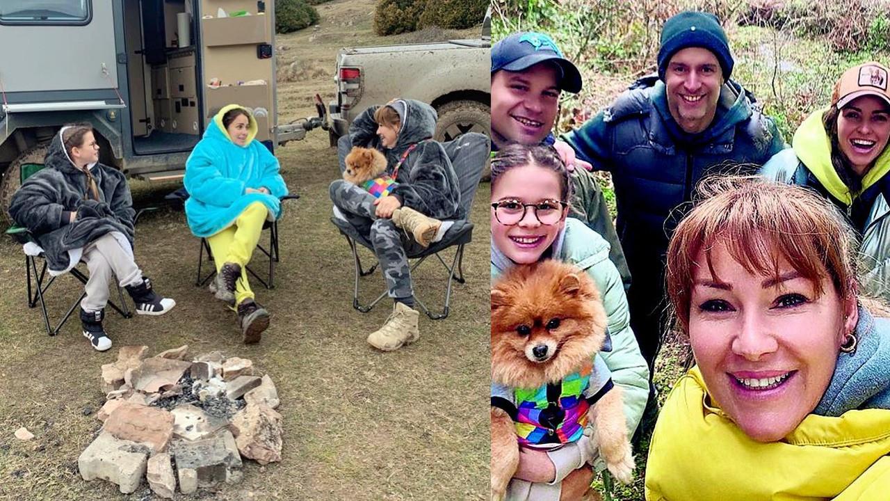 Pınar Altuğ misafirleriyle kamp yaptı