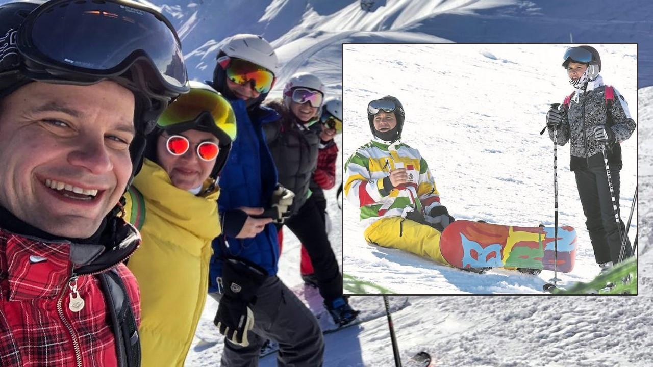 Pınar Altuğ ve Yağmur Atacan her fırsatta soluğu kayakta alıyor