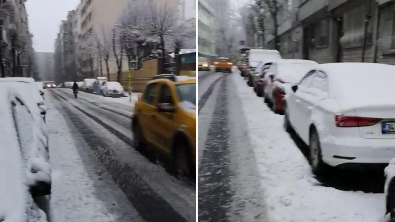 İstanbul'da etkili kar yağışı!