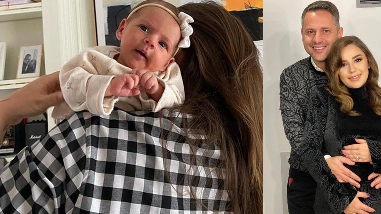 Merve Özbey kızının yüzünü gösterdi