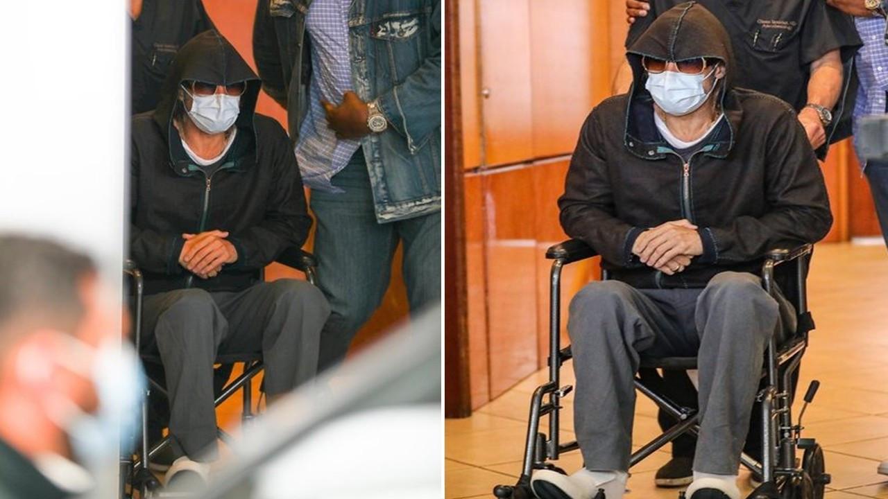 Tekerlekli sandalyeyle görüntülenen ünlü aktör sevenlerini korkuttu