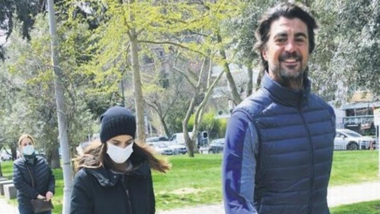 Edvina Sponza ve İbrahim Kutluay'ın keyifleri yerinde