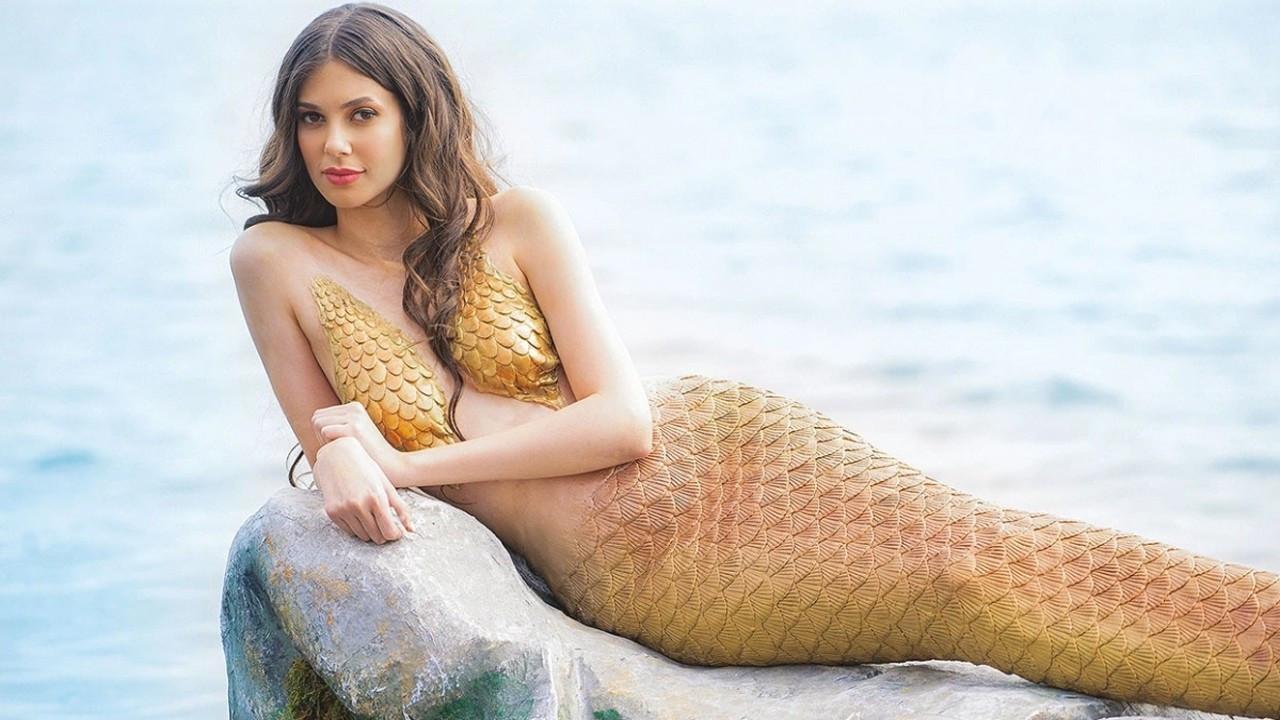 Deren Talu deniz kızı oldu