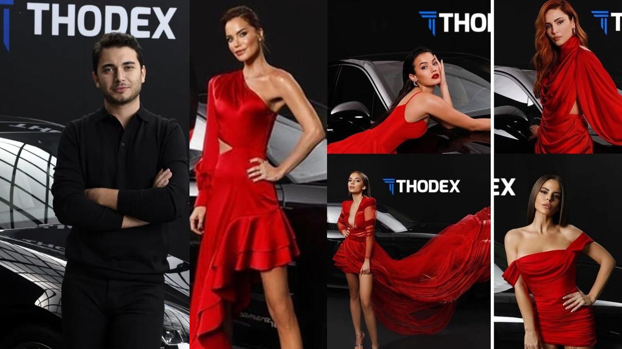 Thodex vurgun için kırmızı elbiseli ünlüleri kullanmış!