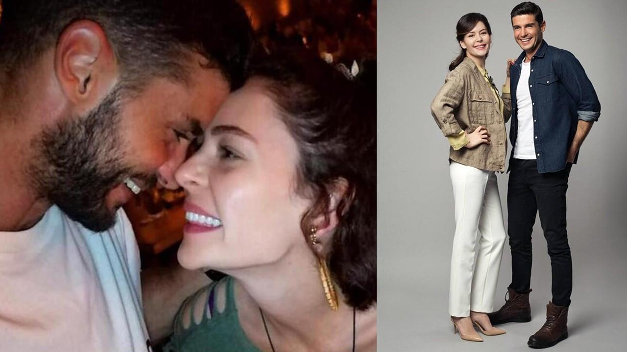 Berk Oktay'dan Yıldız Çağrı Atiksoy'a aşk öpücüğü