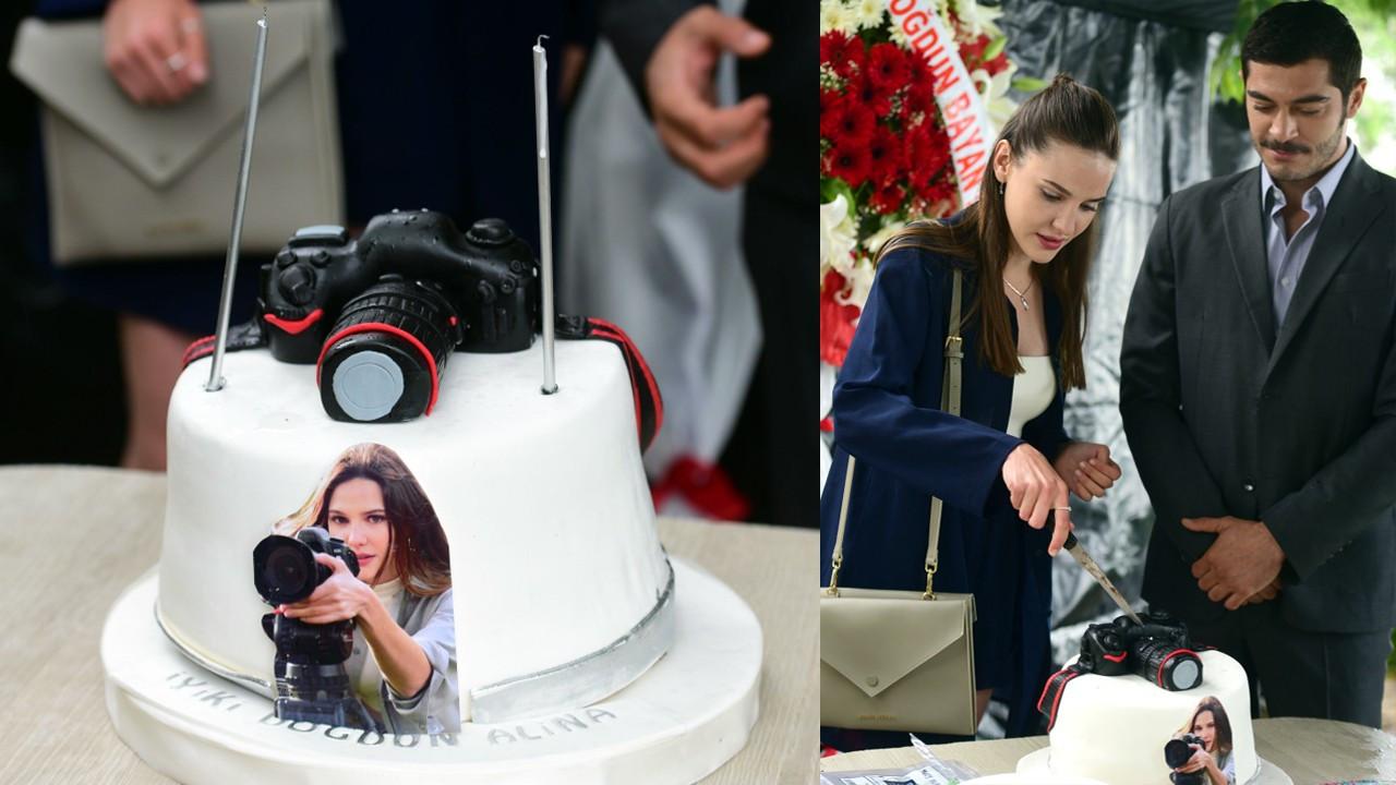 Alina Boz'a Maraşlı setinde yaş günü sürprizi!