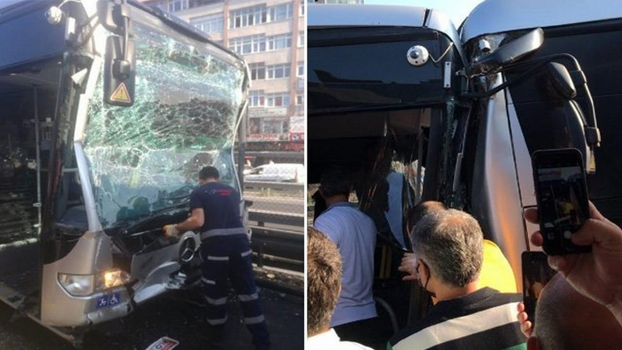Metrobüsler çarpıştı! 24 kişi yaralandı!