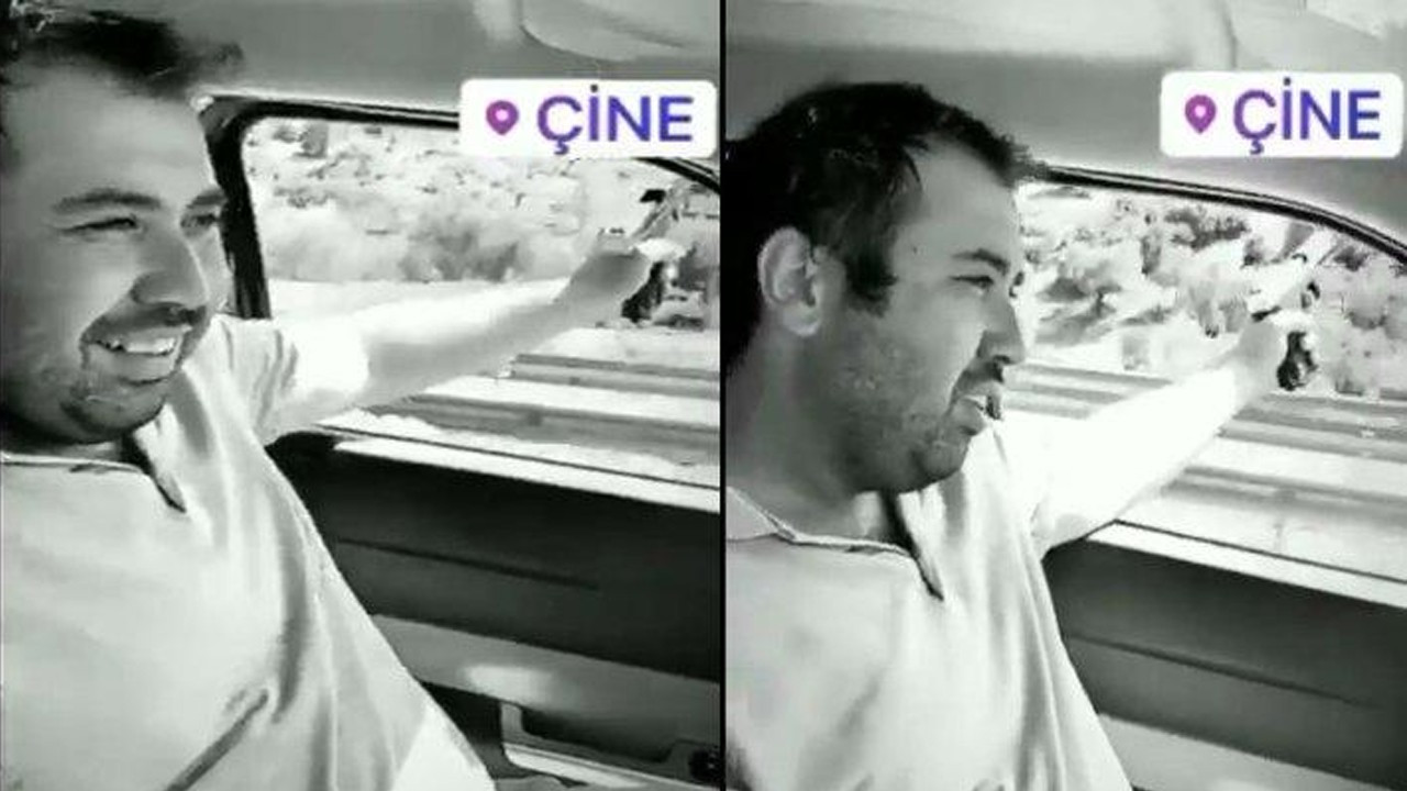 AKP'li başkan hem araba kullandı, hem ateş etti!