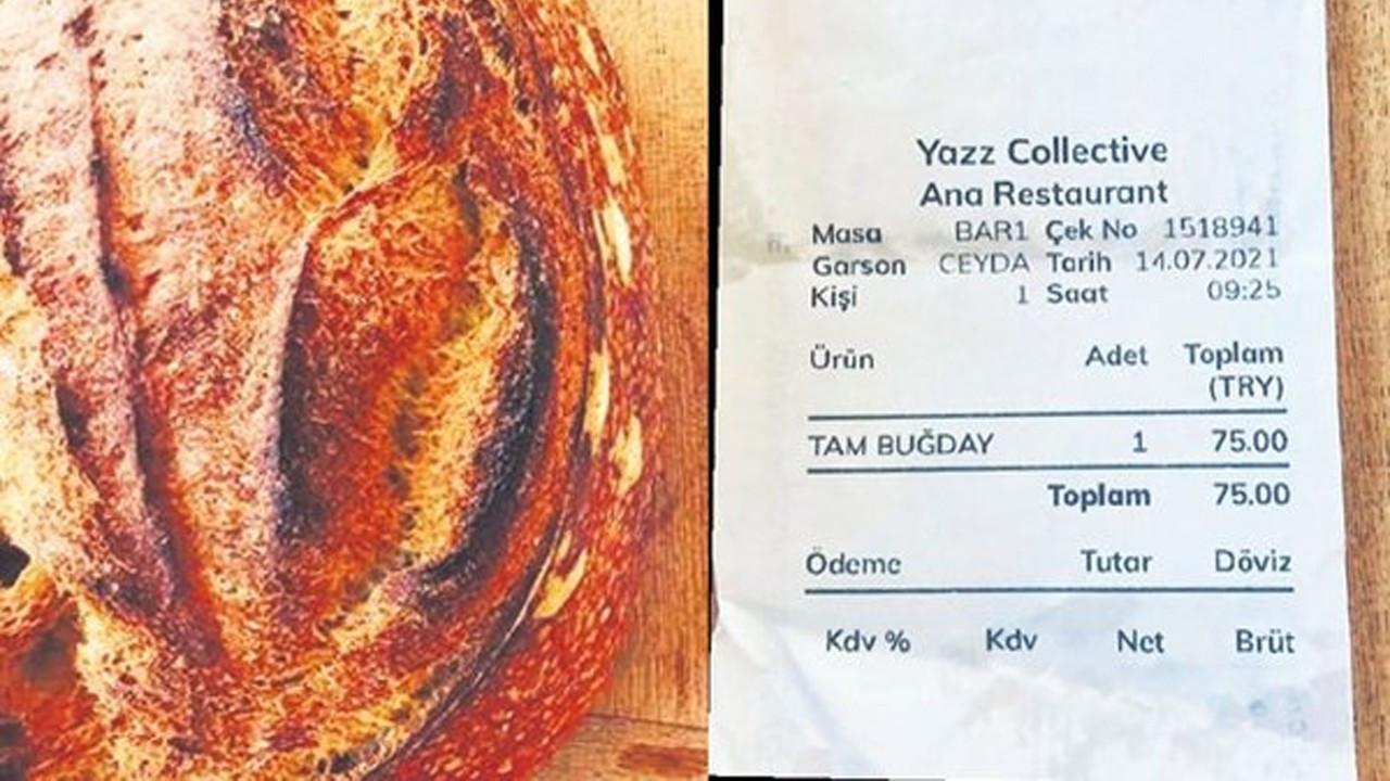 Fethiye'deki ünlü tesiste bir ekmek 75 lira!