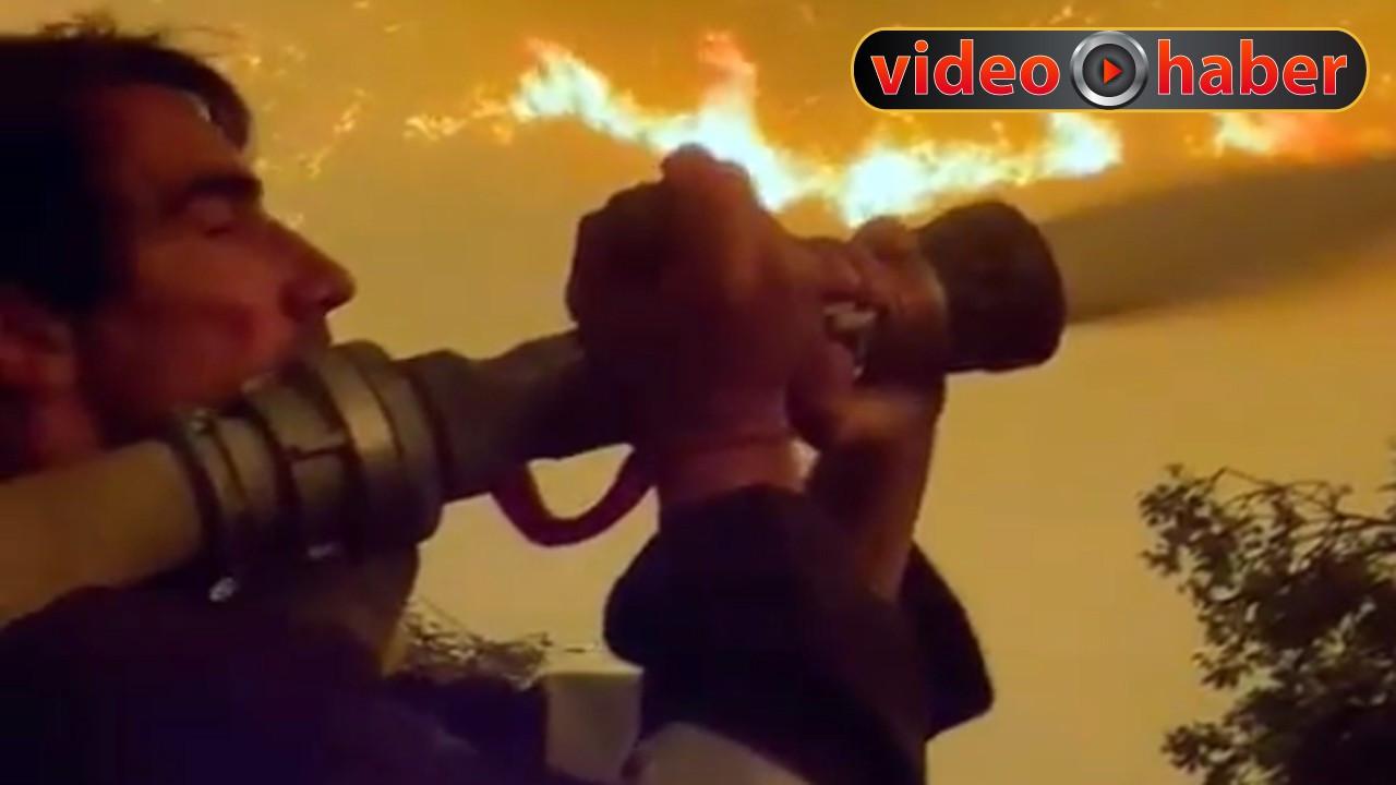 İbrahim Çelikkol yangın söndürme çalışmalarına katıldı