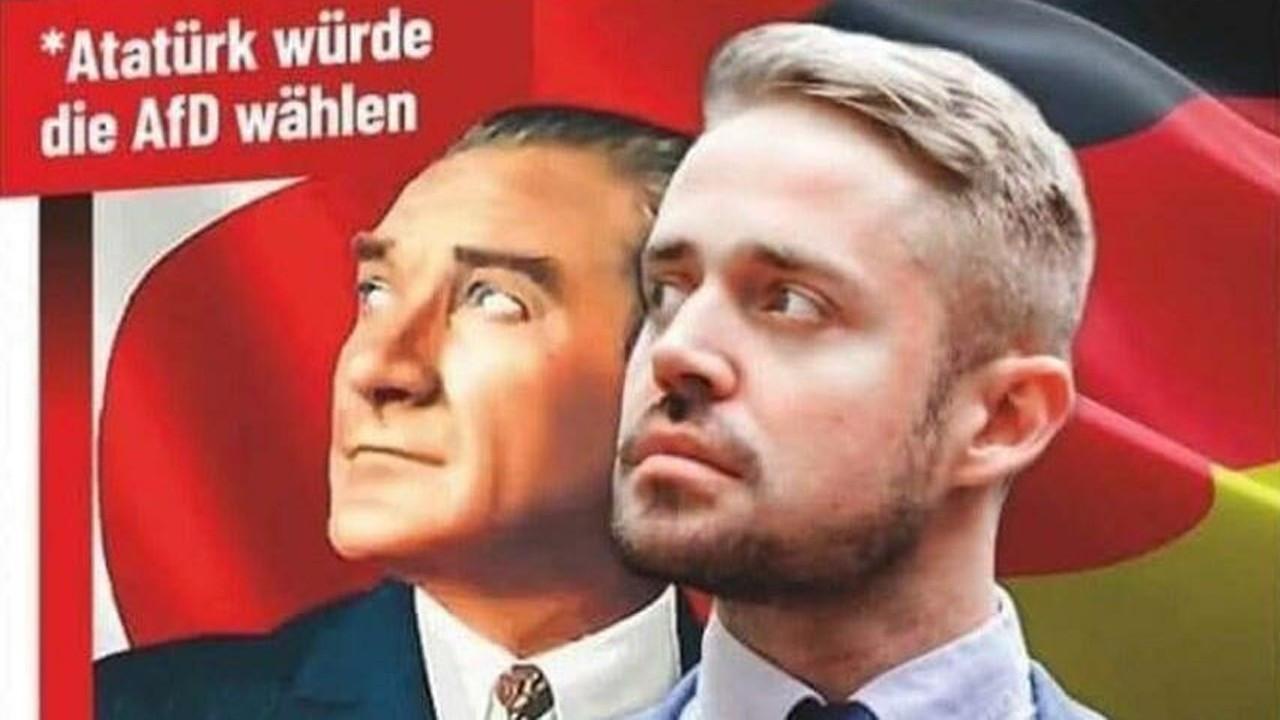 Alman ırkçı partiden Ulu Önder Atatürk'e büyük saygısızlık