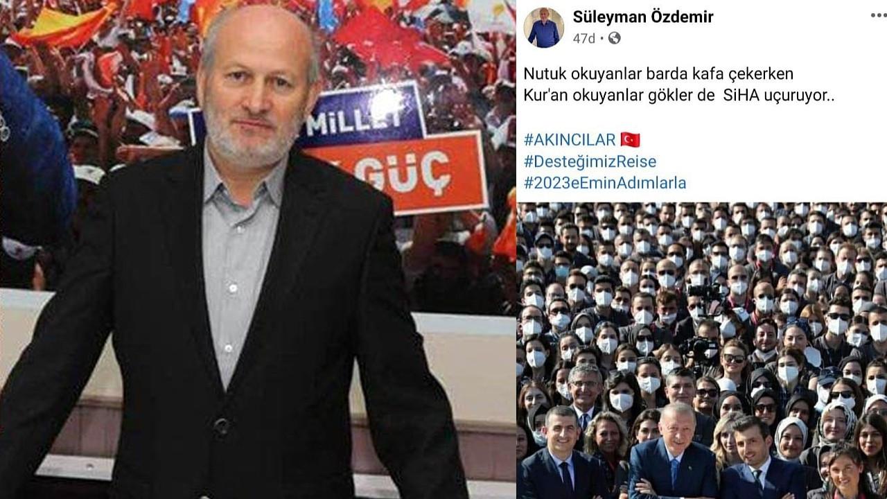 AKP'li başkandan büyük tepki çeken 'Nutuk' paylaşımı