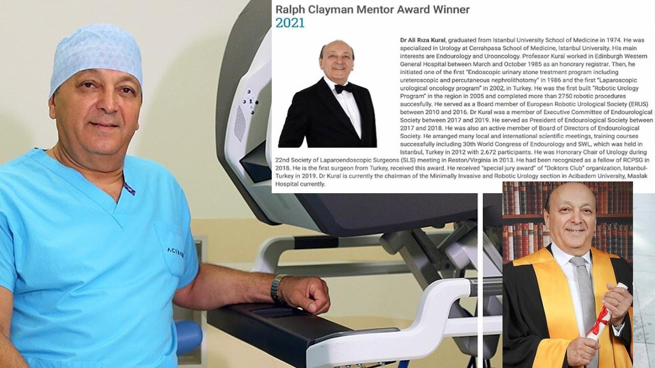 Prof. Dr. Ali Rıza Kural'a gurur verici ödül