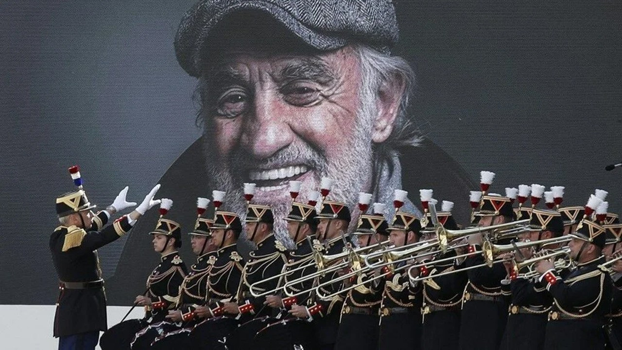 Jean-Paul Belmondo'ya Paris'te devlet töreniyle veda