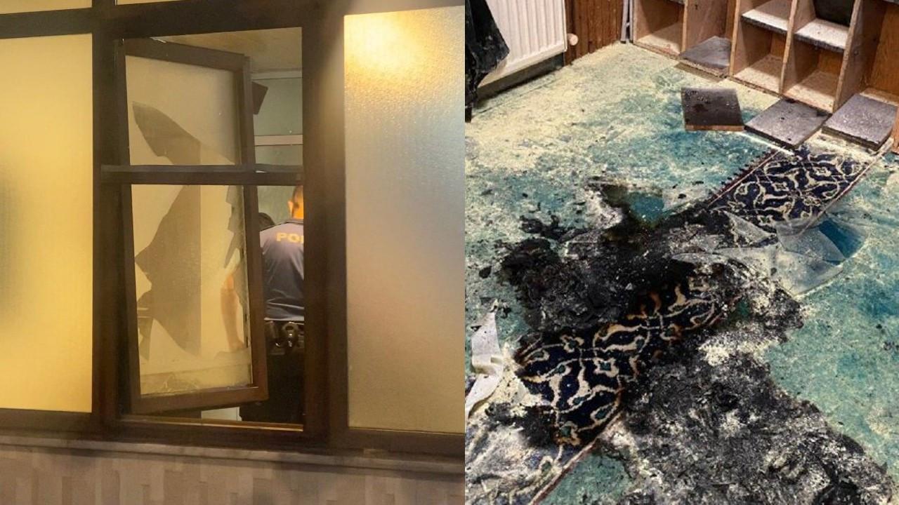 Cami yangınına soruşturma: Kadın şüpheli aranıyor
