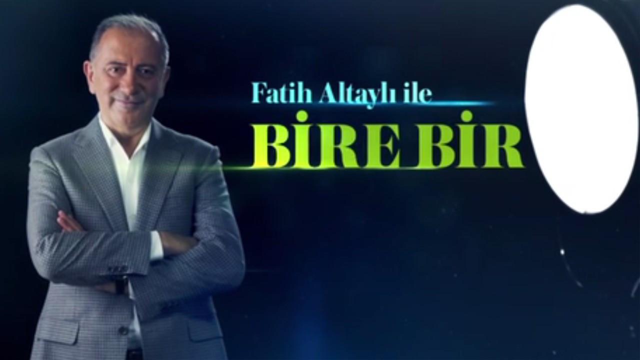 'Fatih Altaylı ile Bire Bir' ilk bölümüyle beğeni topladı