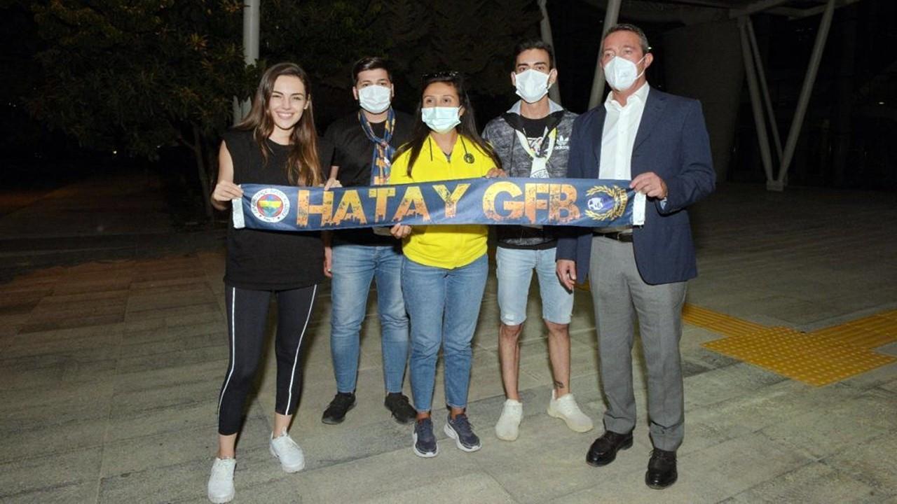 Yağmur Tanrısevsin ve Ali Koç'u Fenerbahçe maçı buluşturdu