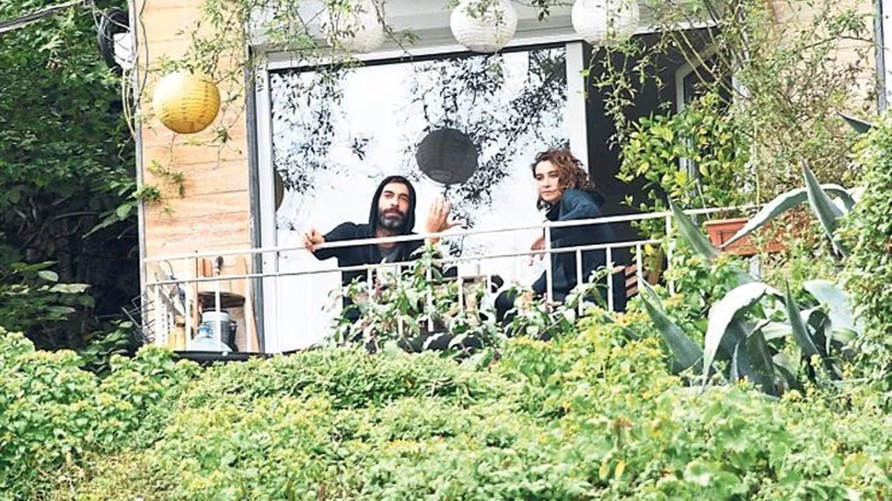 İlker Kaleli ve Sıla'nın balkon keyfi